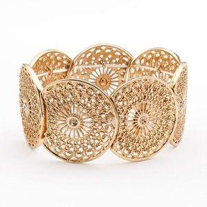 🍂4/$25🍂 Gold Filigree Stretch Bracelet